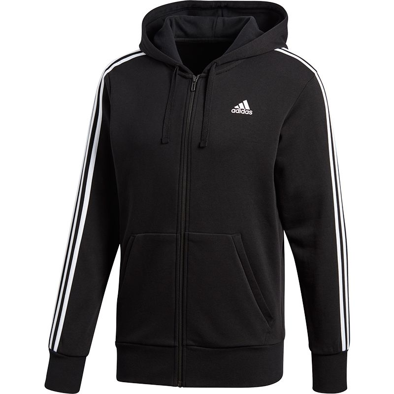 adidas Essentials 3 Stripes Full Zip Hoodie HockeyDirect.nl